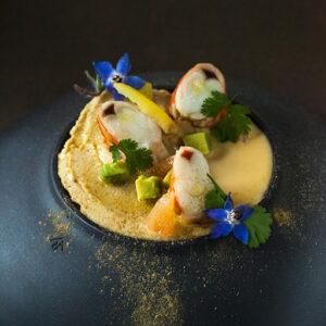 Hummus Art using crudite